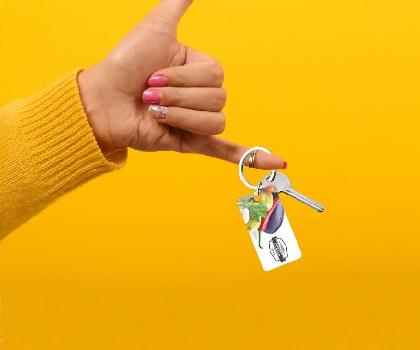 Keychain Plastic Card