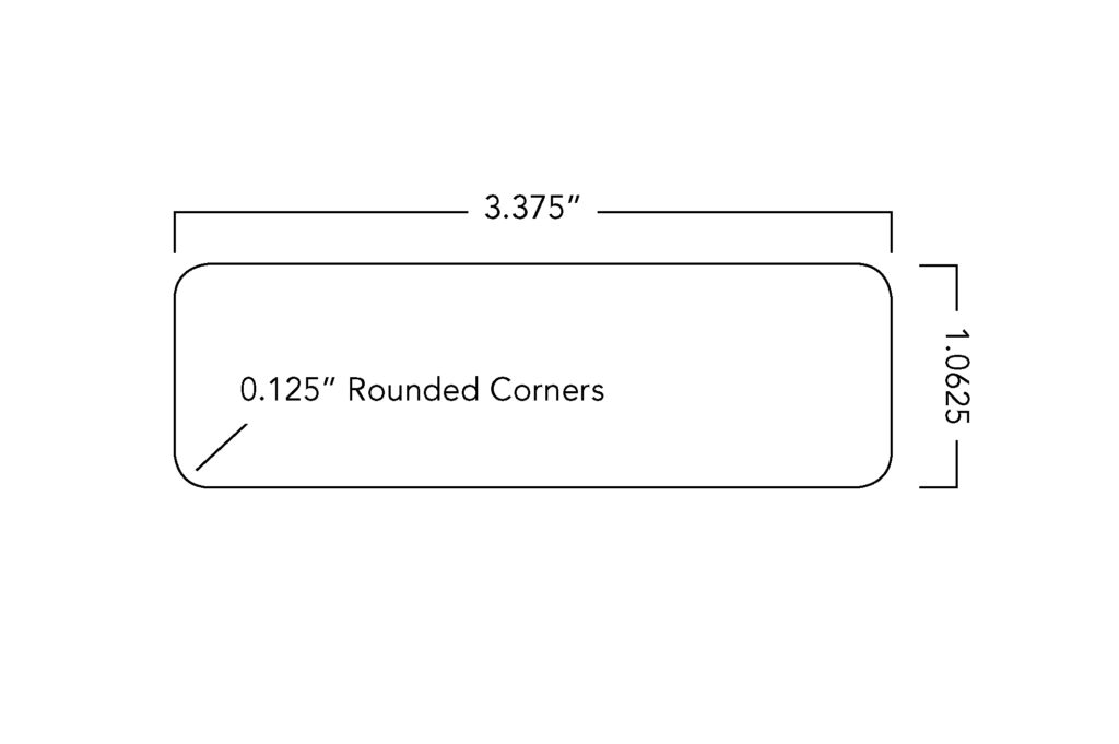 Large Name Tag Dimensions (3.375'' x 1.0625'')