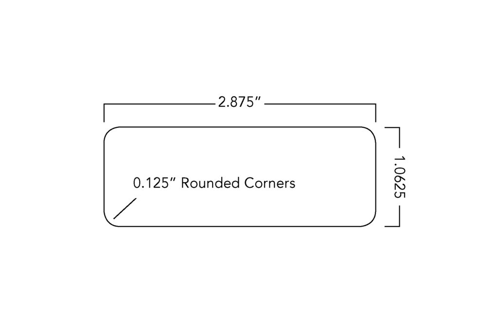 Large Name Tag Dimensions (2.875'' x 1.0625'')